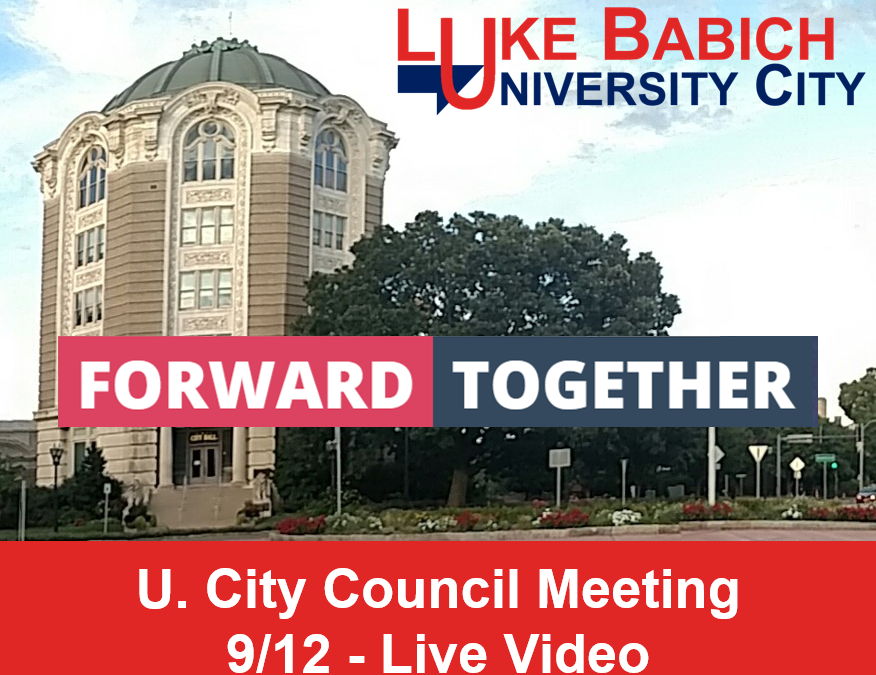 City Council Meeting 9/12 – Live Video